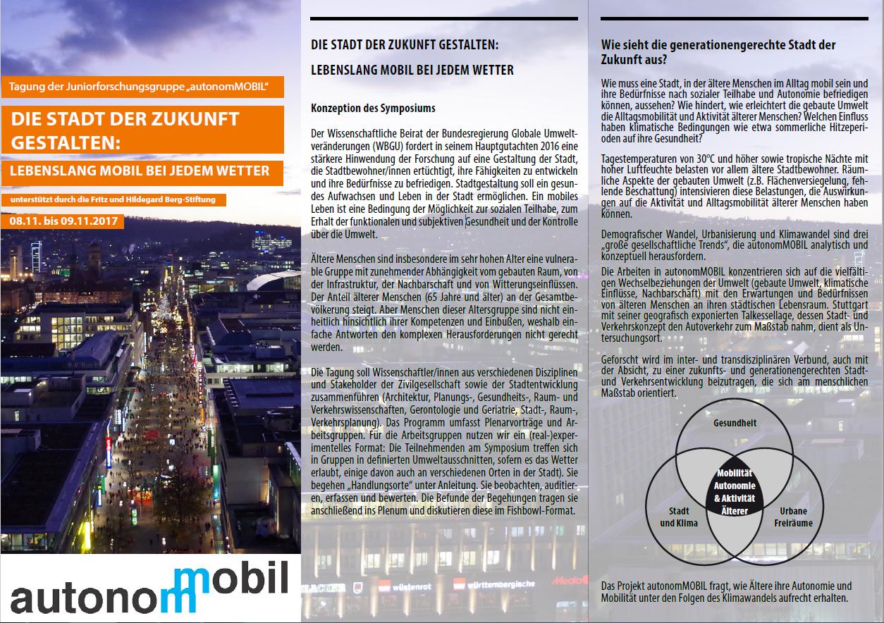 """""""Stadt der Zukunft – Gesunde und nachhaltige Metropolen"""": Tagung 2017 @ Stuttgart (GER)"""